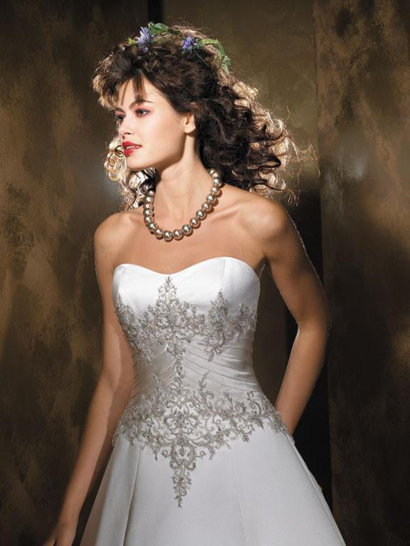 Allure 8425 Diamond White/Cafe size 12 In Stock Wedding Dress - Tom's Bridal