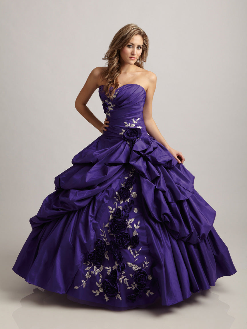 Allure Q309 Purple size 14 In Stock Quinceanera Dress - Tom's Bridal