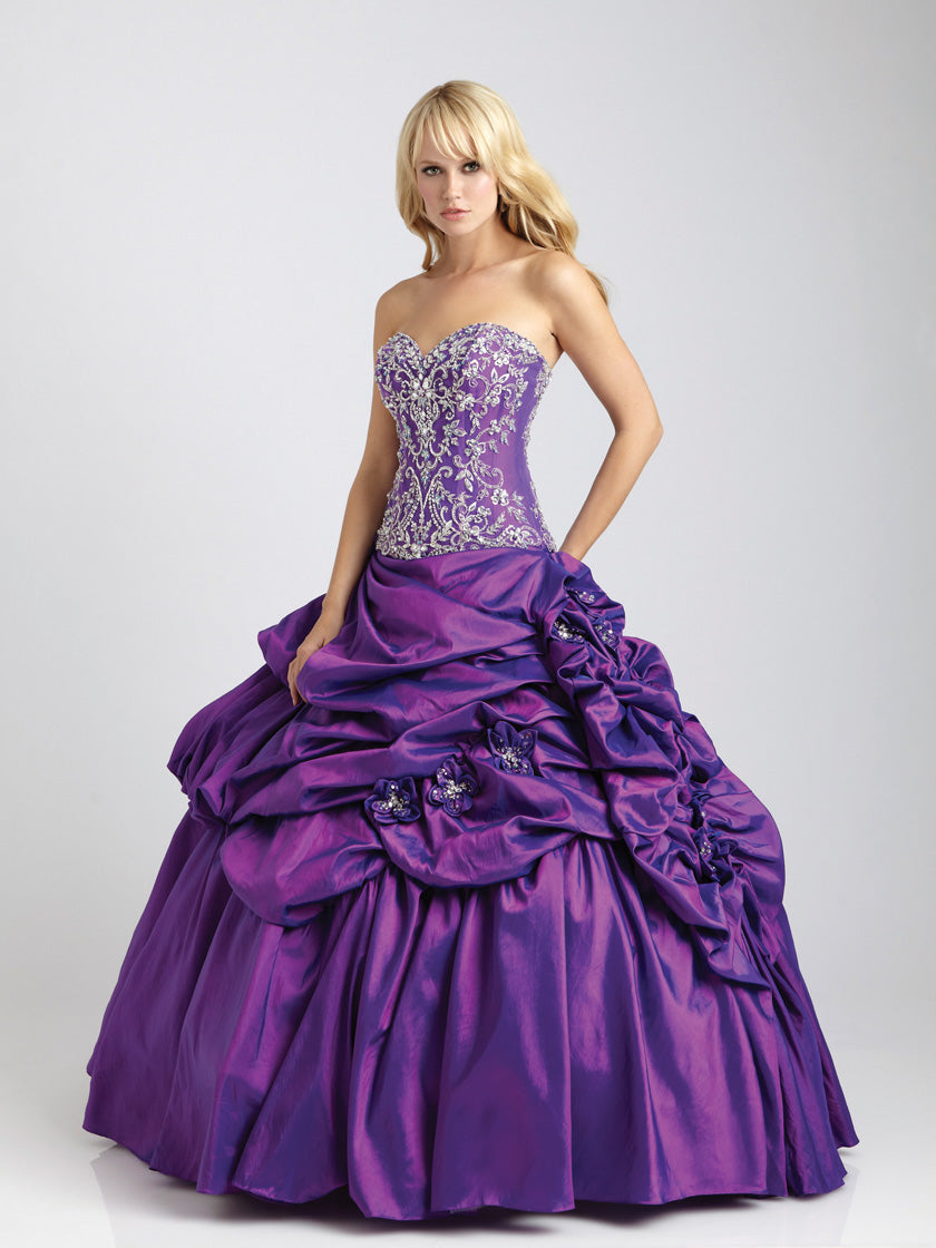 Allure Q328 Plum size 14 In Stock Quinceanera Dress - Tom's Bridal