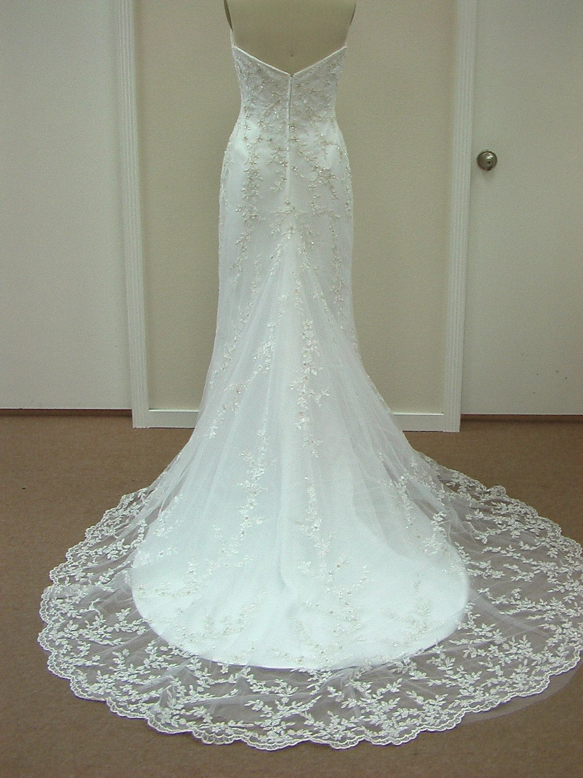 Casablanca 1820 Ivory/Silver size 10 In Stock Wedding Dress - Tom's Bridal