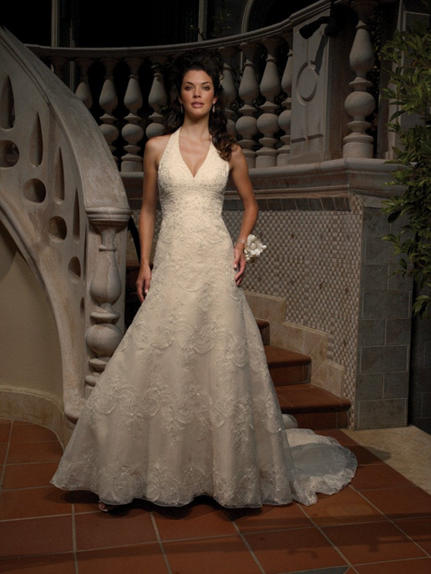 Casablanca 1854 Ivory/Gold size 12 In Stock Wedding Dress - Tom's Bridal