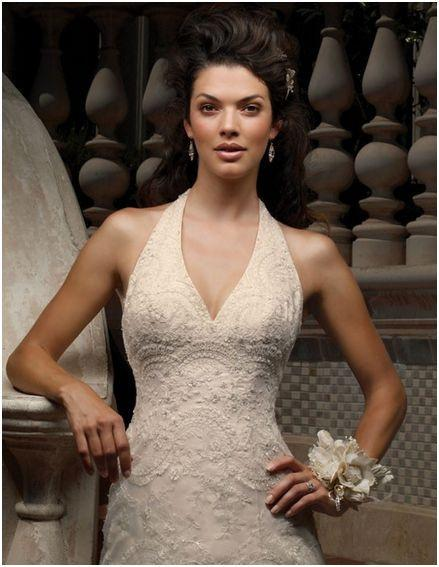 Casablanca 1854 Ivory/Gold size 10 In Stock Wedding Dress - Tom's Bridal