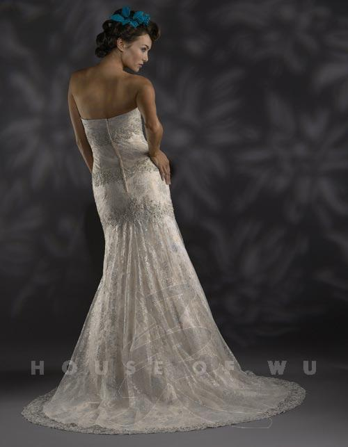 Christina Wu 1591010 Ivory/Silver size 6 In Stock Wedding Dress - Tom's Bridal
