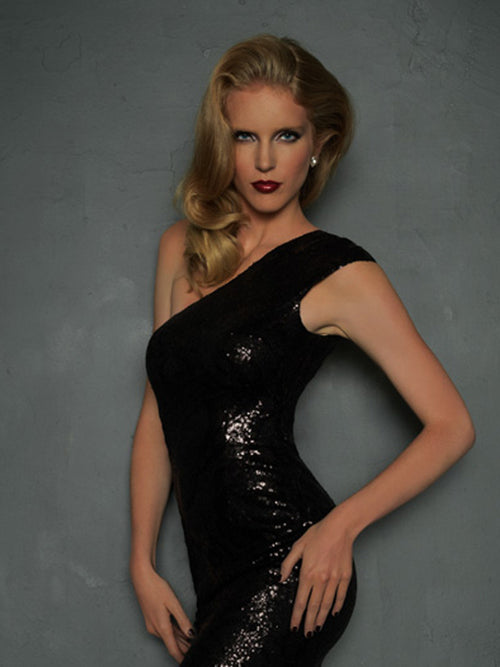 Evenings by Allure A334S Black size 4 In Stock Short Prom Dress