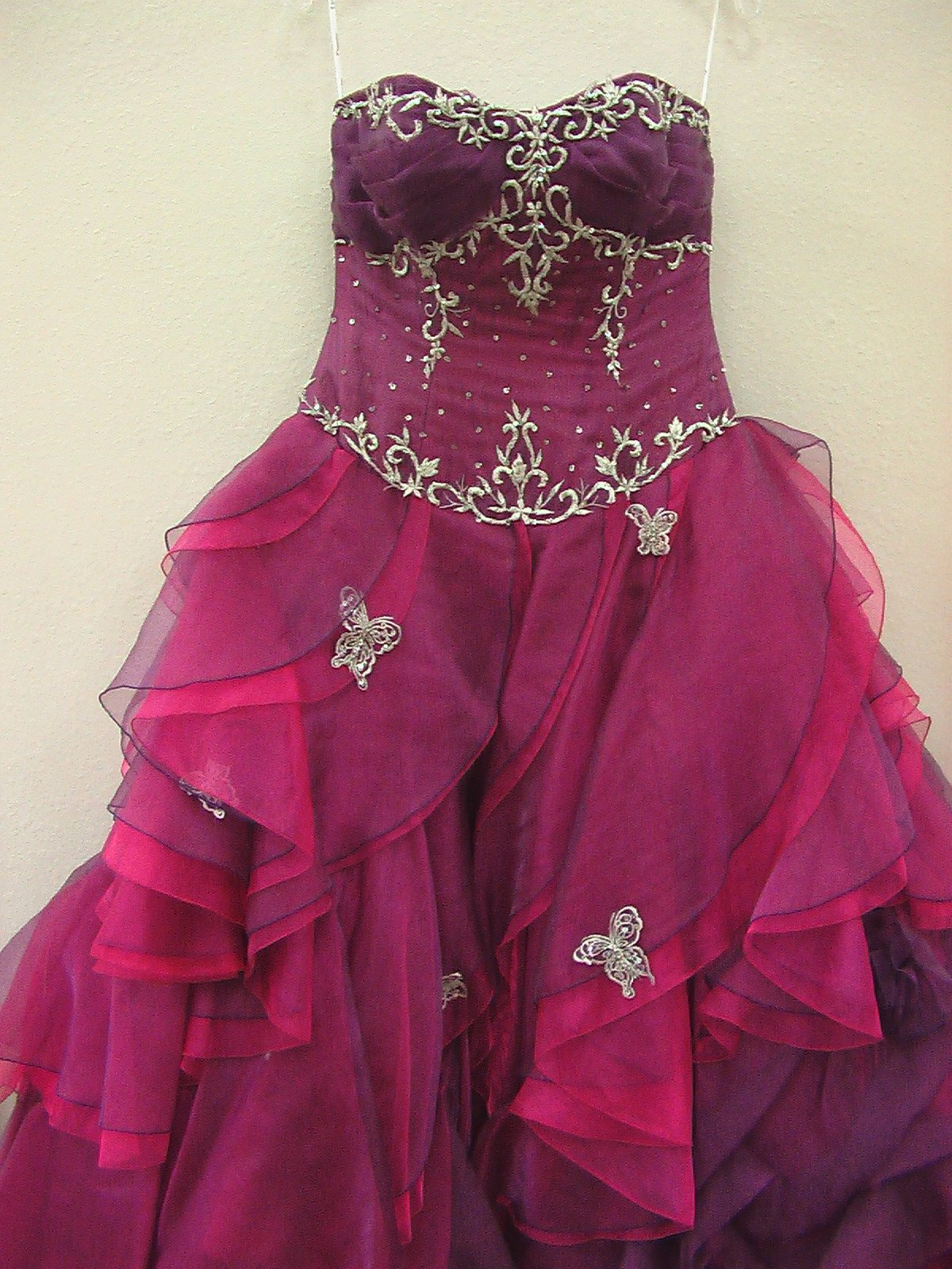 House of Wu 26602 Purple Fuchsia size 10 In Stock Quinceanera Dress - Tom's Bridal