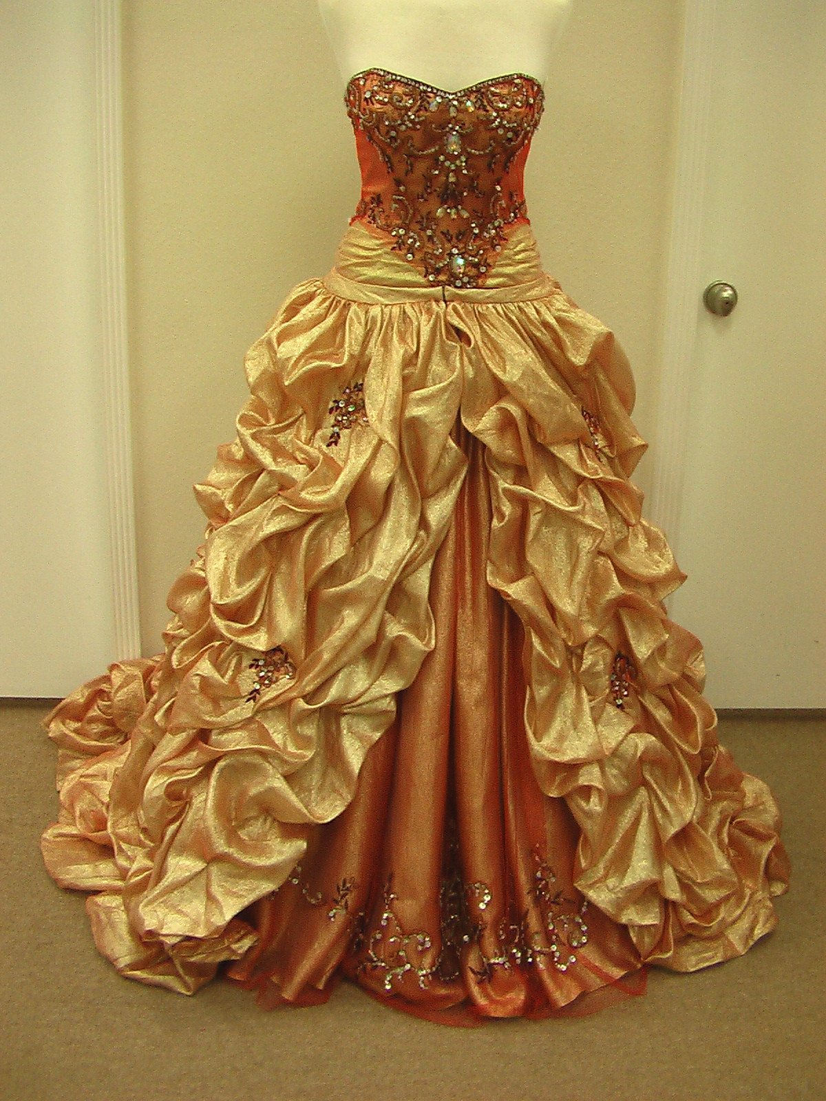 House of Wu 26646 Orange Garnet size 10 In Stock Quinceanera Dress - Tom's Bridal