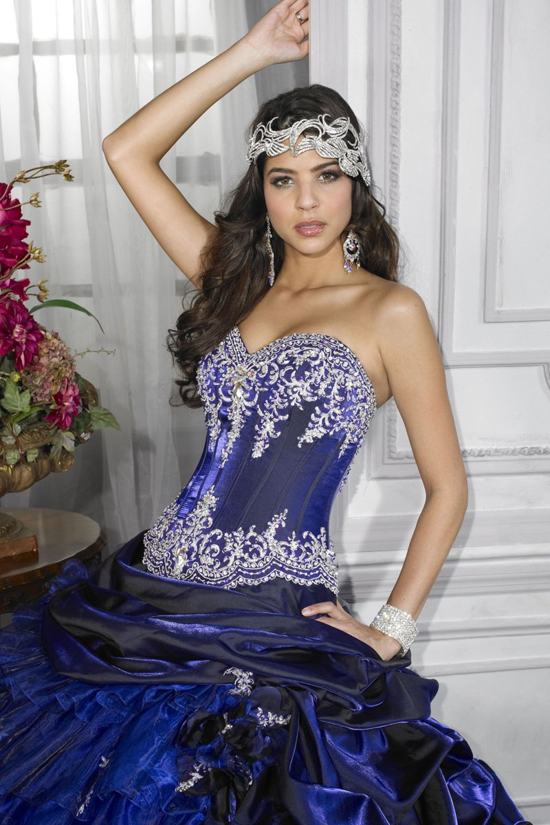 House of Wu 26671 Grape/Royal size 14 In Stock Quinceanera Dress - Tom's Bridal