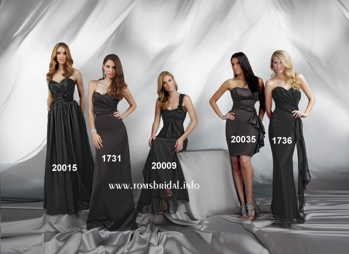 Impression Bridesmaid 1731 Black Size 10 In Stock Bridesmaid Dress-NEW - Tom's Bridal