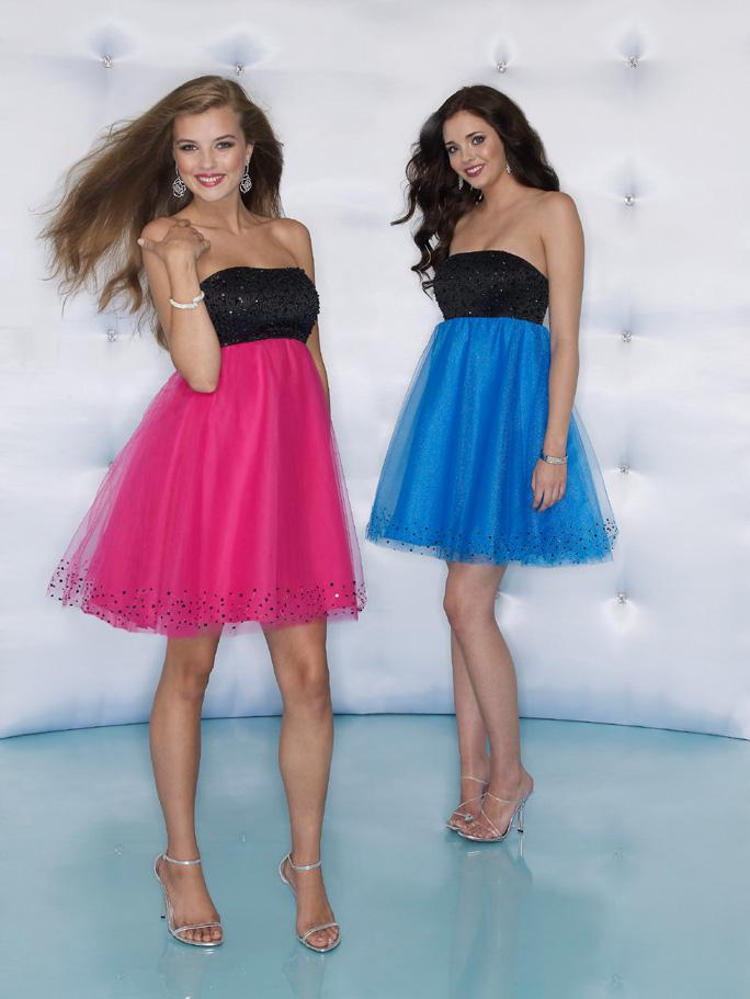 Sticks and Stones 9031 Black/Cerise size 4 In Stock Homecoming Dress - Tom's Bridal