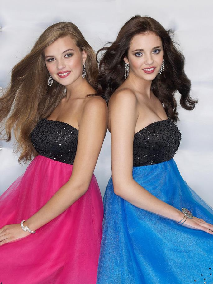 Sticks and Stones 9031 Black/Cobalt size 8 In Stock Homecoming Dress - Tom's Bridal