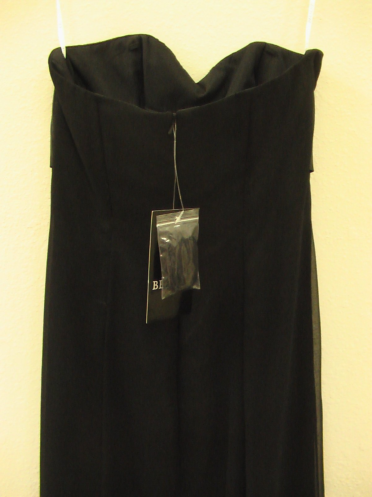 Jasmine Belsoie L1069 Black size 10 In Stock Bridesmaid Dress - Tom's Bridal
