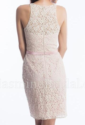 Jasmine P156055K Almond/Rose size 14 In Stock Bridesmaid Dress-NEW - Tom's Bridal