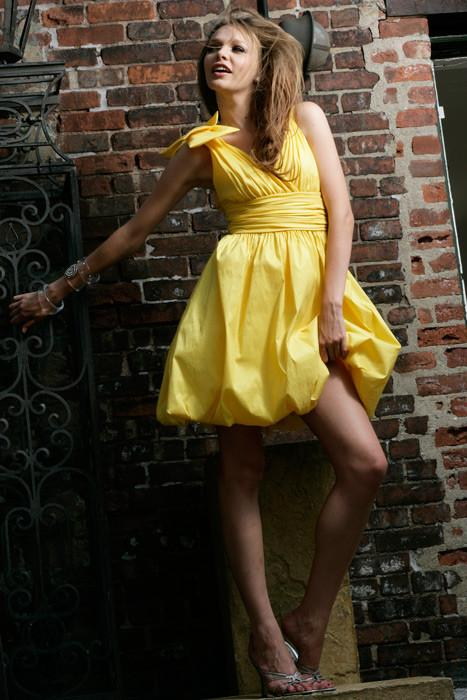 Jovani 15262 Yellow size 6 in stock Short Prom Dress - Tom's Bridal