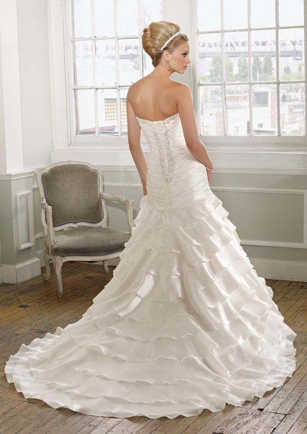 Mori Lee 1617 Ivory/Silver size 14 In Stock Wedding Dress