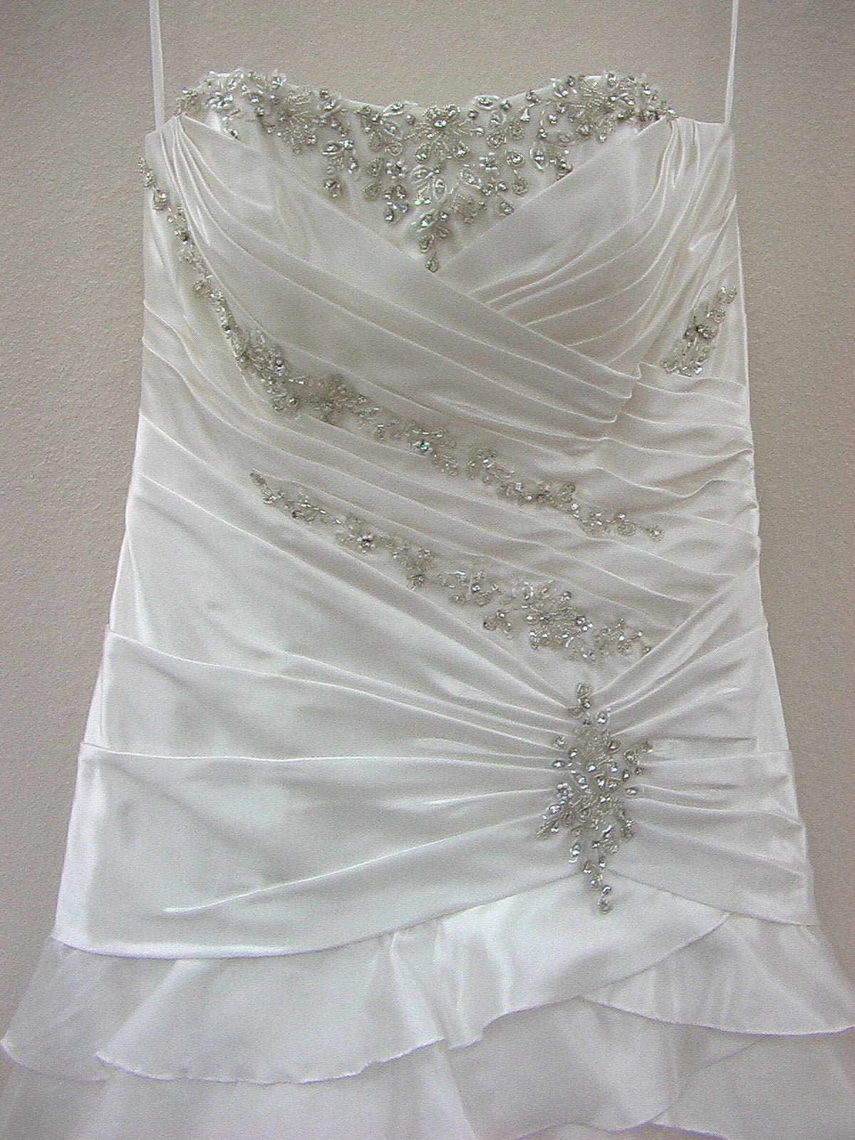 Mori Lee 1617 Ivory/Silver size 14 In Stock Wedding Dress - Tom's Bridal