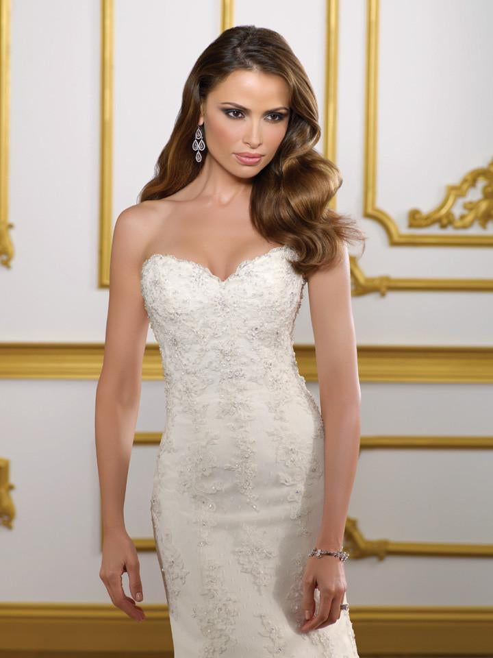 Mori Lee 1813 Ivory size 12 In Stock Wedding Dress - Tom's Bridal