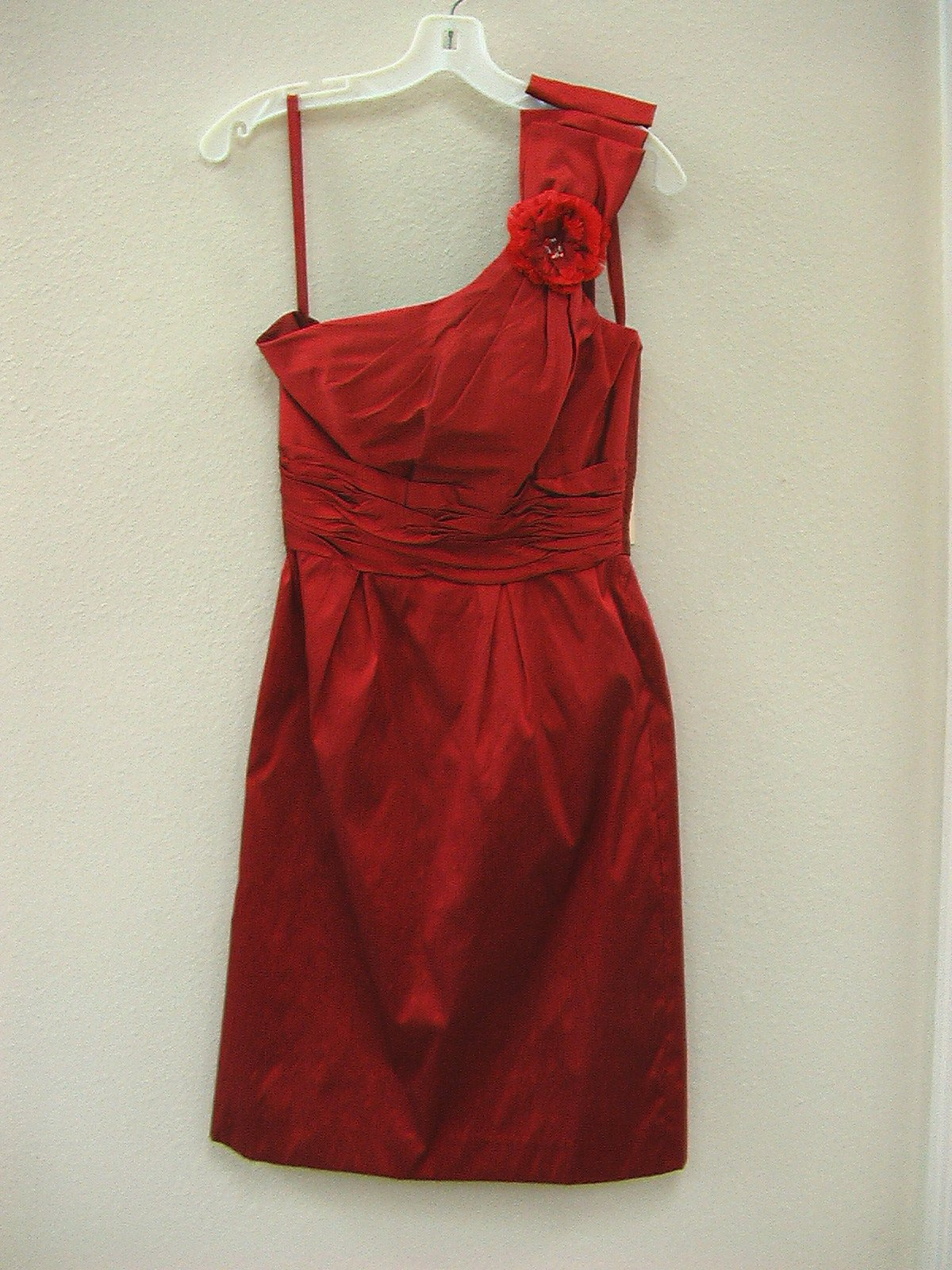 Mori Lee Angelina Faccenda 20268 Ruby size 8 In Stock Bridesmaid Dress - Tom's Bridal