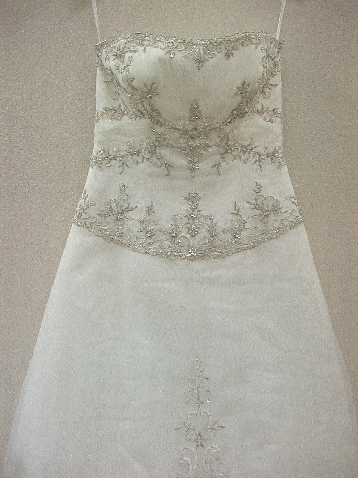 Mori Lee 2167 Ivory/Silver size 10 In Stock Wedding Dress - Tom's Bridal