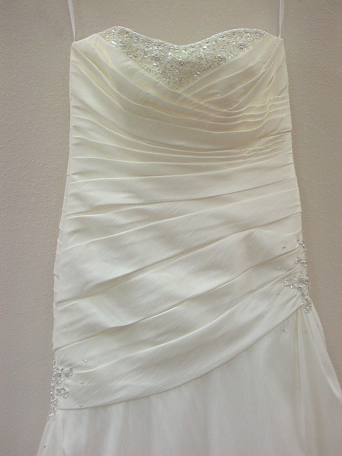 Mori Lee Blu 4602 Ivory/Silver size 12 In Stock Wedding Dress - Tom's Bridal