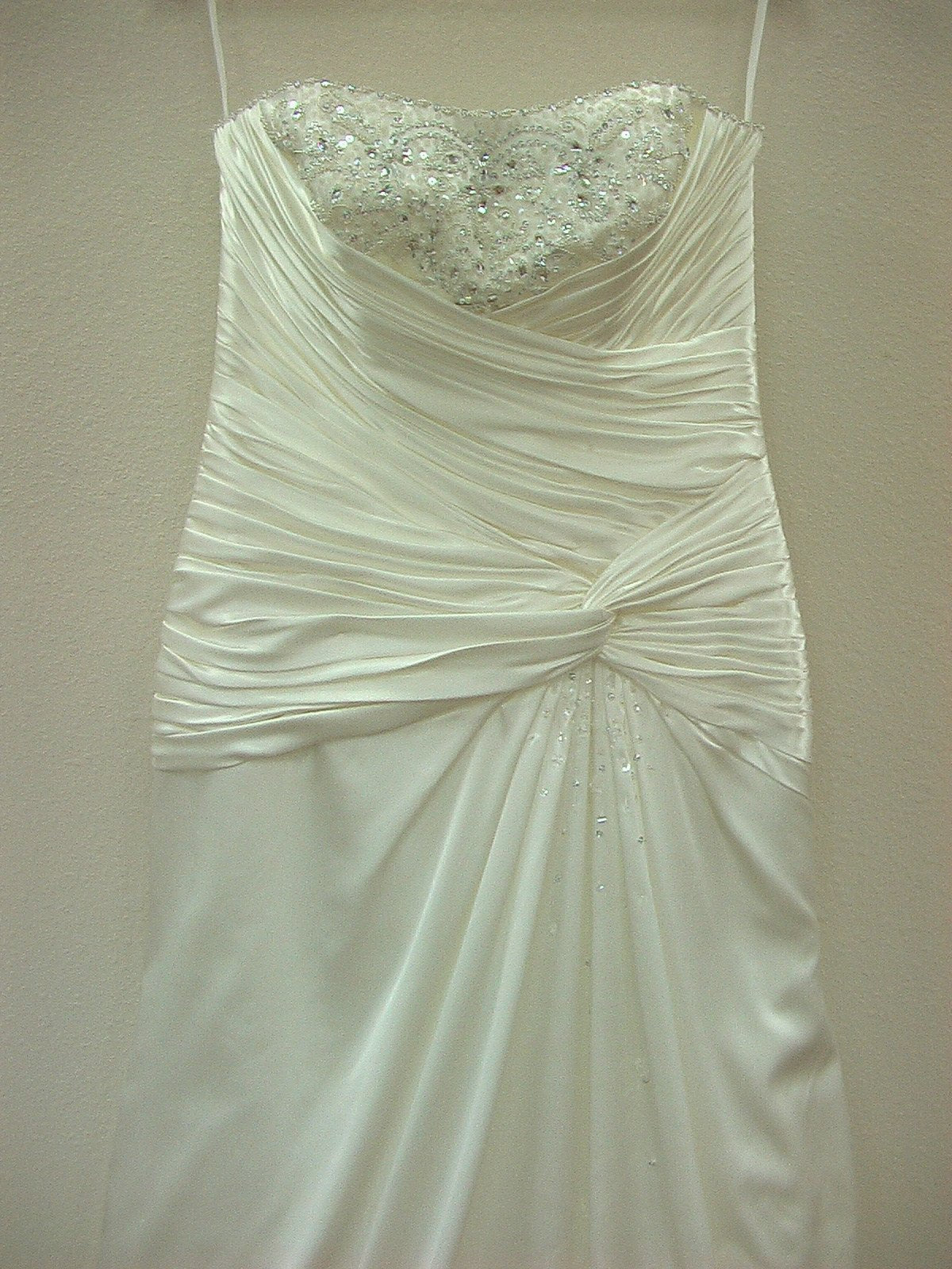 Mori Lee Blu 4607 Ivory/Silver size 10 In Stock Wedding Dress - Tom's Bridal