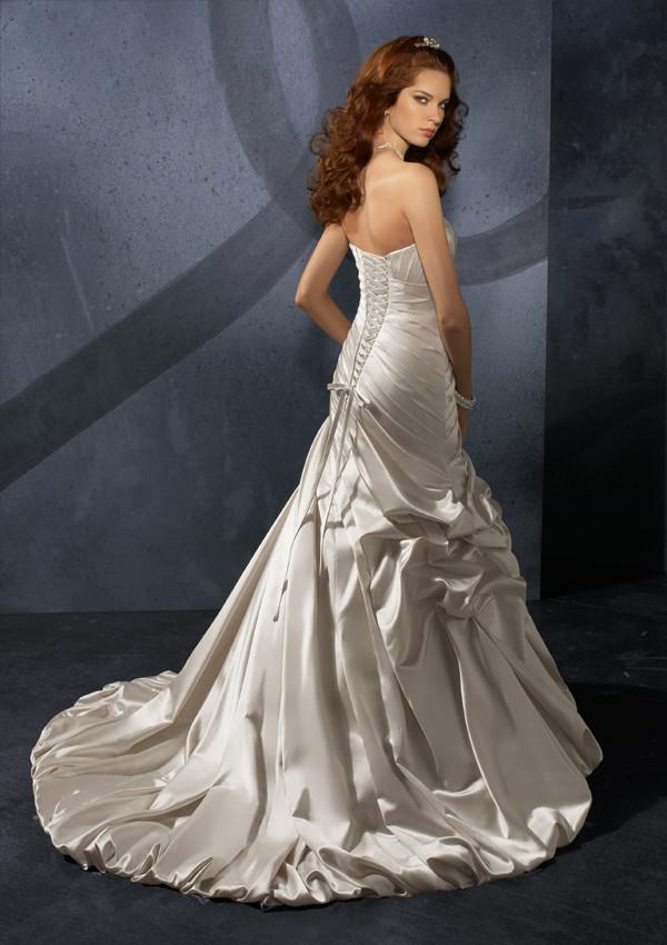 Mori Lee Blu 4701 Ivory size 12 In Stock Wedding Dress - Tom's Bridal