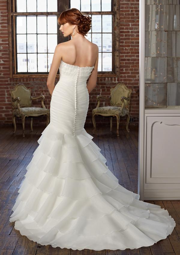 Mori Lee Blu 4801 Ivory size 6 In Stock Wedding Dress - Tom's Bridal
