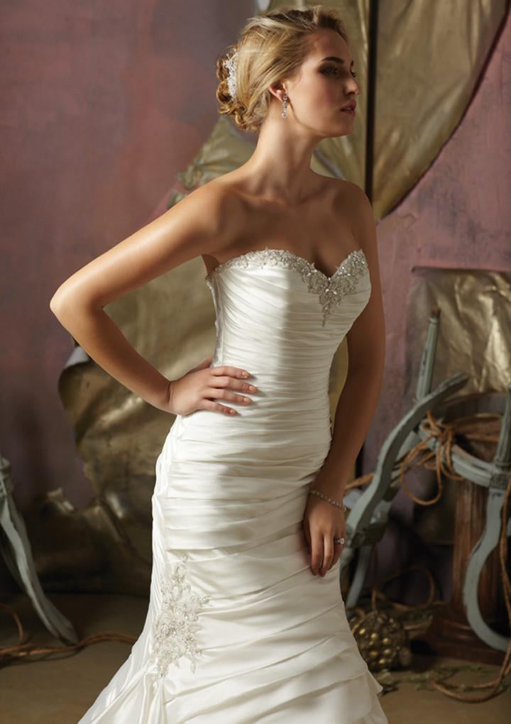 Mori Lee Blu 4962 Ivory/Silver size 10 In Stock Wedding Dress - Tom's Bridal