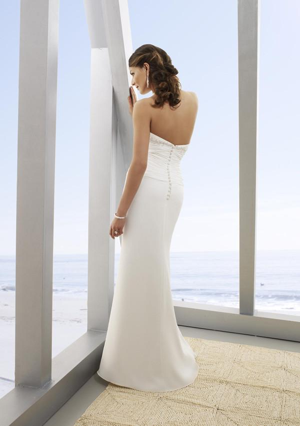 Mori Lee Voyage 6206 Ivory/Silver size 6 In Stock  Destination Beach Wedding Dress - Tom's Bridal