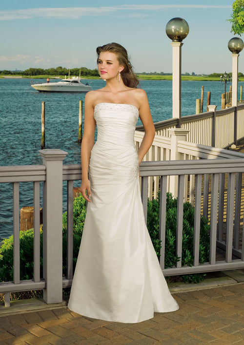 Mori Lee Voyage  6306 Ivory/Silver size 16 In Stock  Destination Beach Wedding Dress