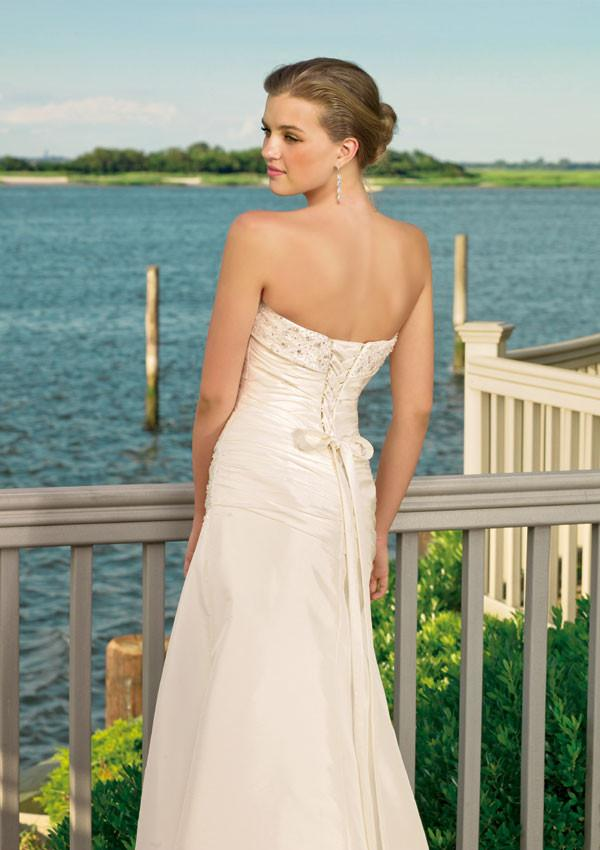 Mori Lee Voyage  6306 Ivory/Silver size 16 In Stock  Destination Beach Wedding Dress - Tom's Bridal