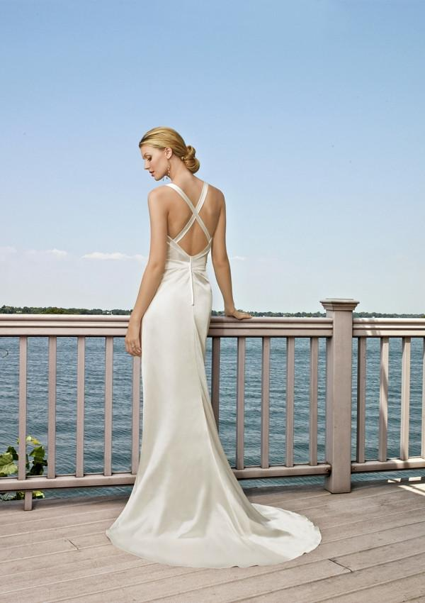 Mori Lee Voyage 6503 Ivory/Silver size 12 In Stock Destination Beach Wedding Dress - Tom's Bridal