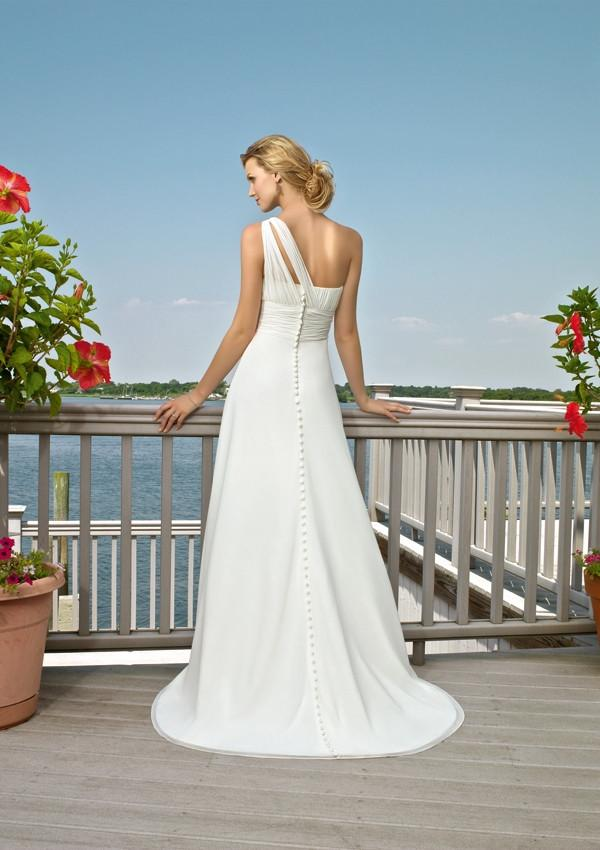 Mori Lee Voyage 6505 Ivory/Silver size 10 In Stock Destination Beach Wedding Dress - Tom's Bridal