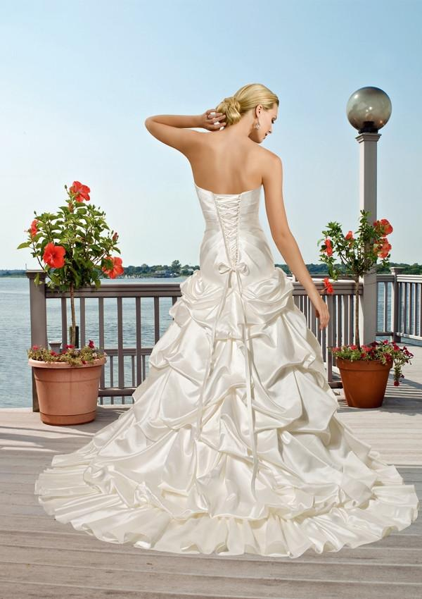 Mori Lee Voyage 6507 Ivory/Silver size 14 In Stock Destination Beach Wedding Dress - Tom's Bridal