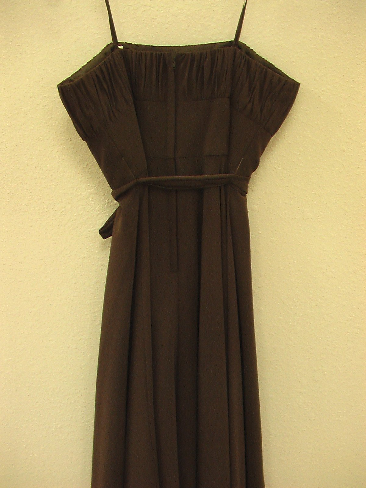 Mori Lee 735 Chocolate size 12 In Stock Bridesmaid Dress - Tom's Bridal