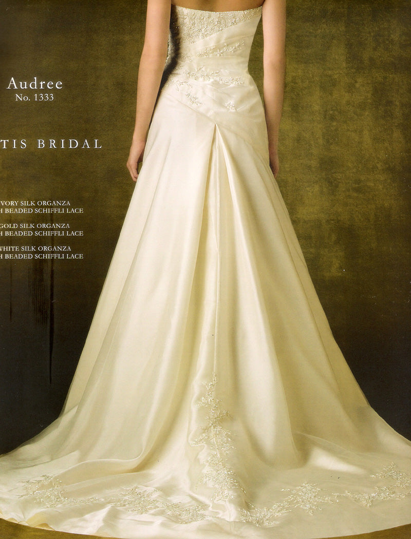 Pattis 1333 Audree Ivory size 10 In Stock Wedding Dress - Tom's Bridal