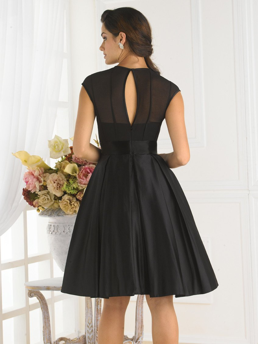 Pretty Maids 22342 Black size 12 In Stock Bridesmaid Dress - Tom's Bridal