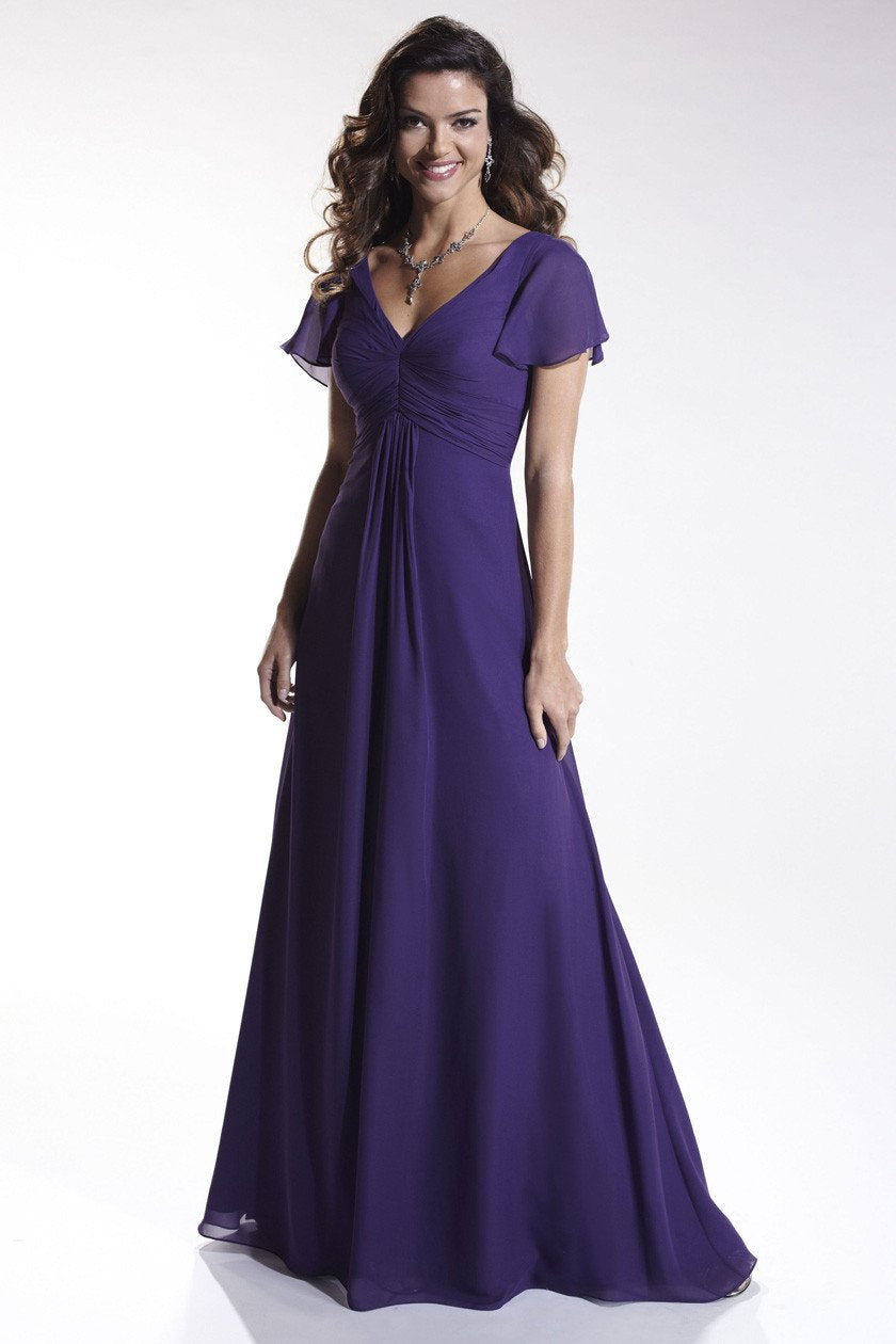 Pretty Maids 22442 Purple size 16 In Stock Bridesmaid Dress - Tom's Bridal
