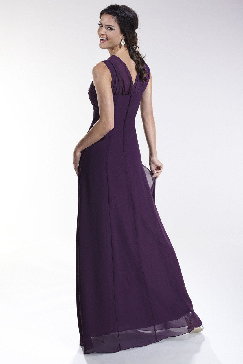 Pretty Maids 22453 Grape size 10 In Stock Bridesmaid Dress - Tom's Bridal