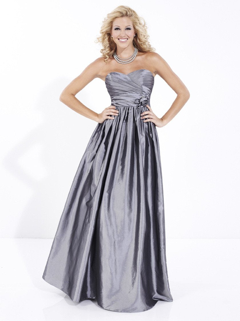 Pretty Maids 22487 Gunmetal size 12 In Stock Bridesmaid Dress - Tom's Bridal