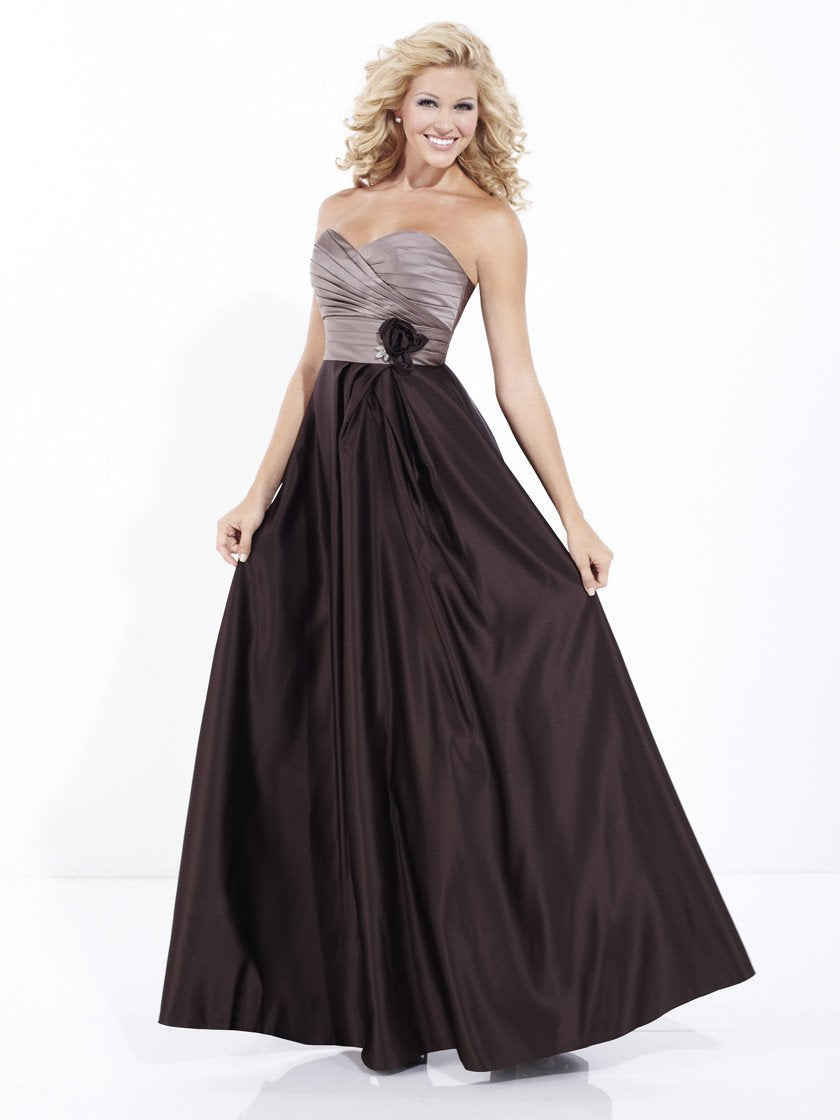 Pretty Maids 22488 Mocha/Espresso size 12 In Stock Bridesmaid Dress - Tom's Bridal
