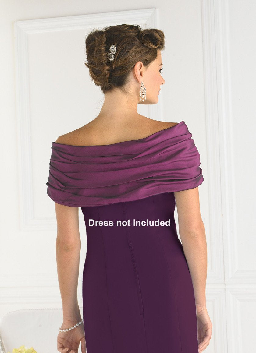 Pretty Maids J04 Mulberry size 16 In Stock Bridesmaid Shoulder Wrap - Tom's Bridal