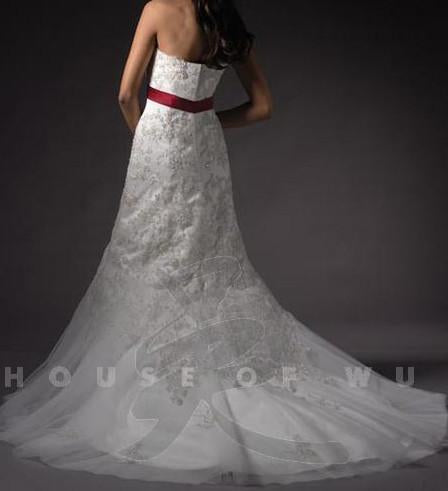 PC 18706 Ivory/Silver size 6 In Stock Wedding Dress - Tom's Bridal