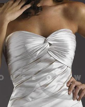 PC 18733 Ivory/Silver size 10 In Stock Wedding Dress - Tom's Bridal