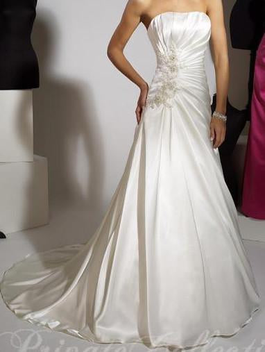 PC 18779 Ivory/Silver size 8 In Stock Wedding Dress - Tom's Bridal