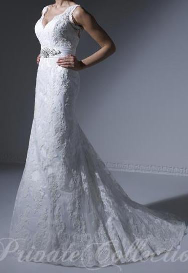 PC 18850 Ivory/Silver size 12 In Stock Wedding Dress - Tom's Bridal