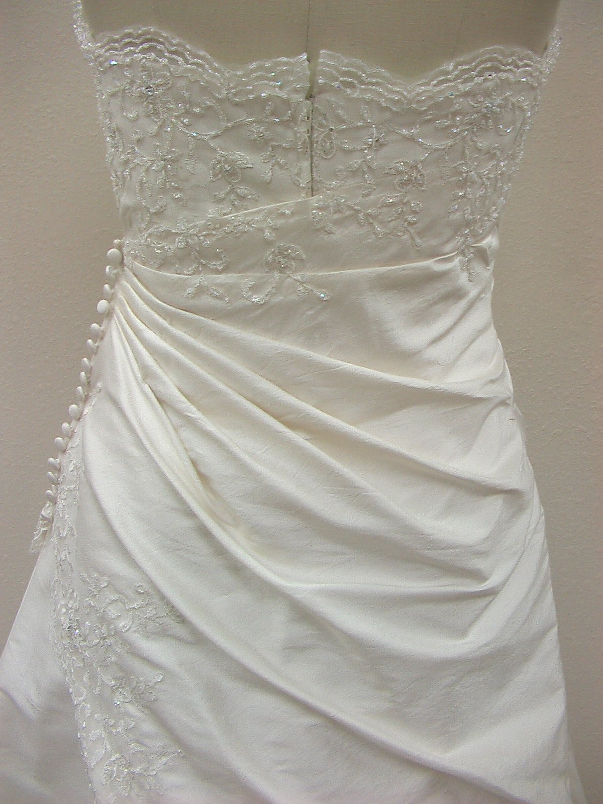 RJ B345 Natural/Silver size 10 In Stock Wedding Dress - Tom's Bridal