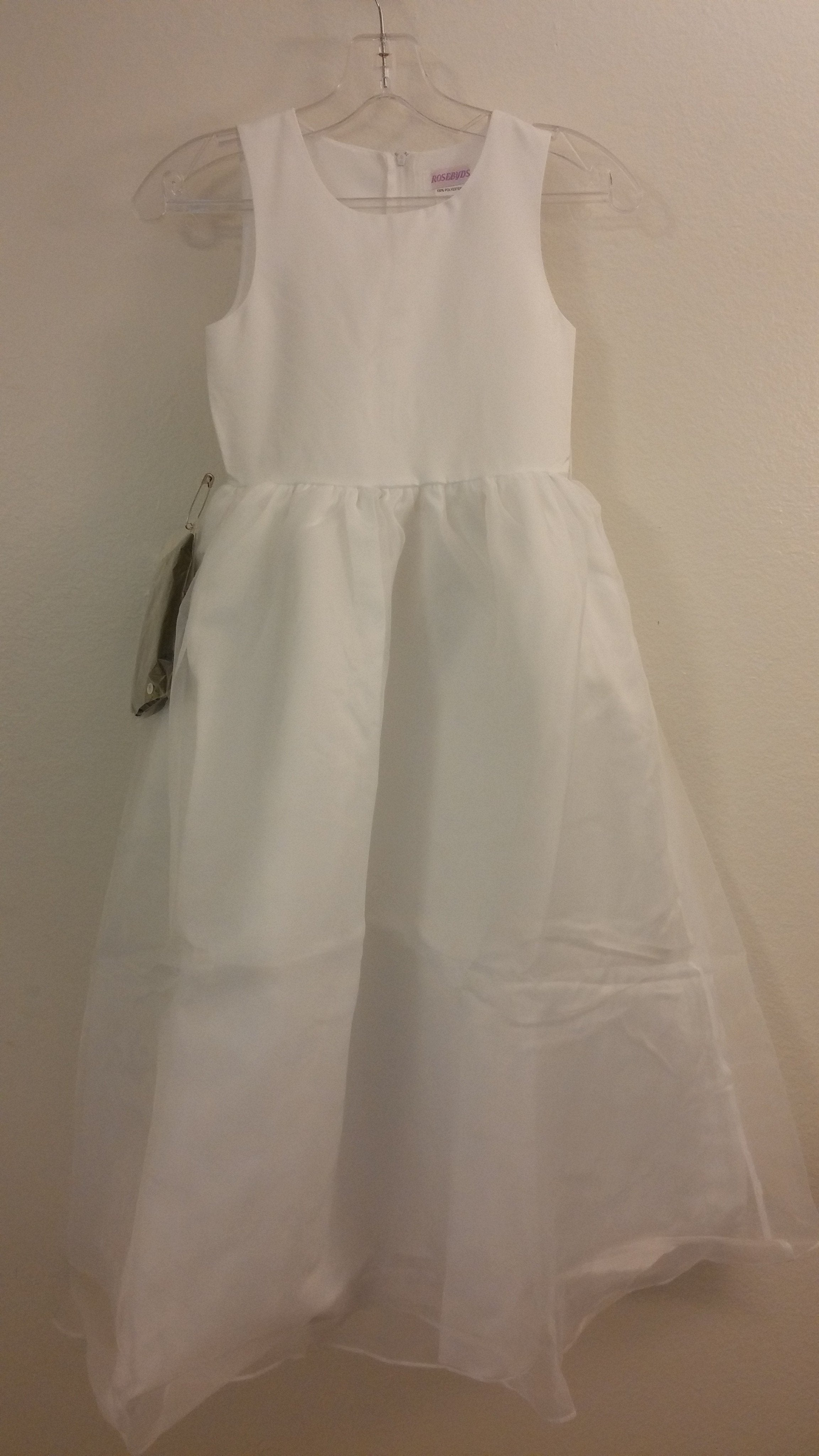 Rosebud 5101 White/Black size 8 In Stock Flower Girl Dress-NEW - Tom's Bridal