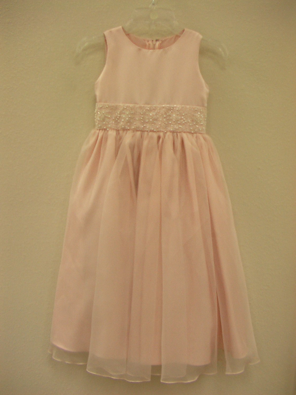 US Angels 172 Blush Pink size 12 In Stock Flower Girl Dress-NEW - Tom's Bridal