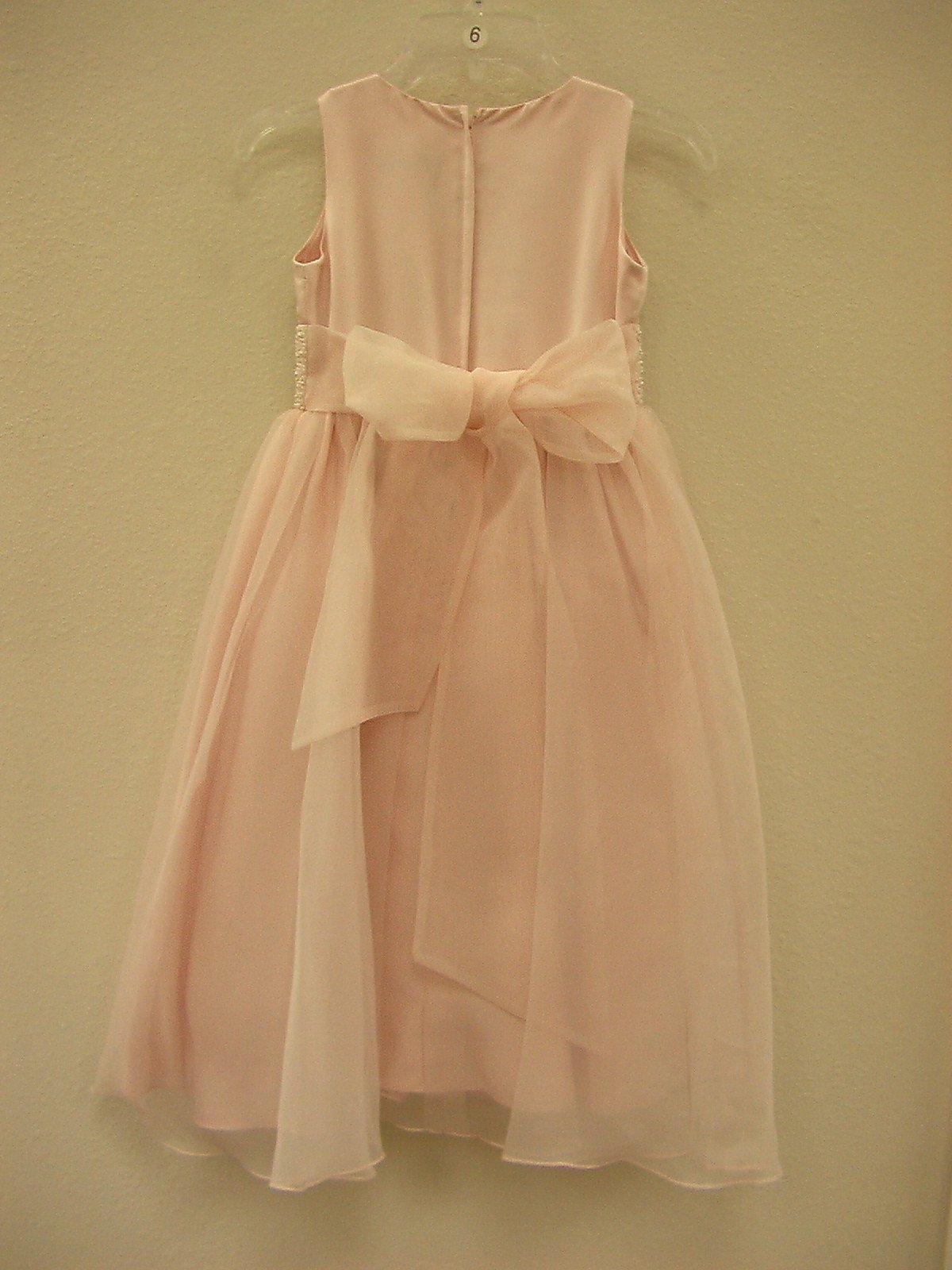 US Angels 172 Blush Pink size 6 In Stock Flower Girl Dress - Tom's Bridal