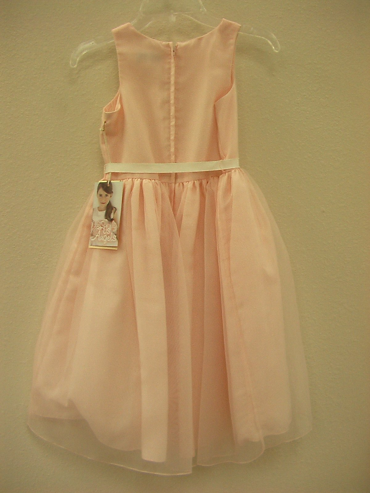 US Angels 188 Blush Pink size 6X In Stock Flower Girl Dress - Tom's Bridal